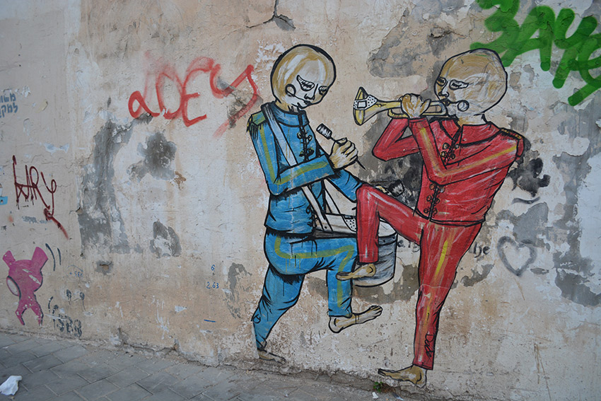 Here is the work of well-known Israeli street artist Dede. Photo courtesy Cailin O'Neil.