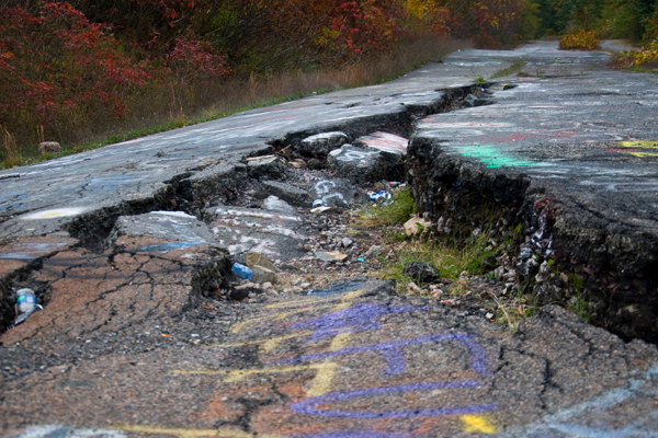 Centralia's population has dwindled from over 1,000 residents in 1981 to 10 in 2010. Photo courtesy Daniel Evans.