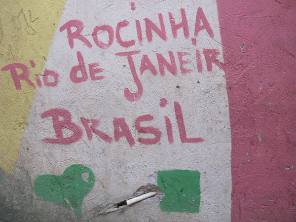 Favela wall art.