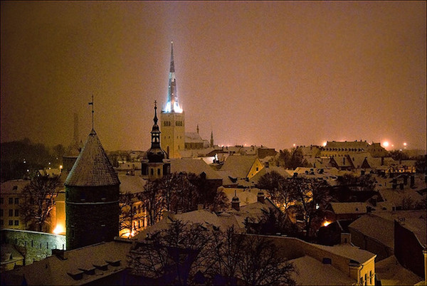 New Years eve in Tallinn, Estonia. Photo by Oly.