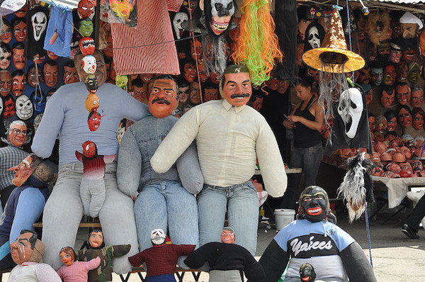 Effigies for sale in advance of the evening's festivities. Photo by Waxy D.