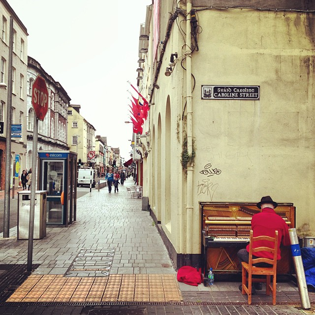 The piano man of Plunkett Street, County Cork.