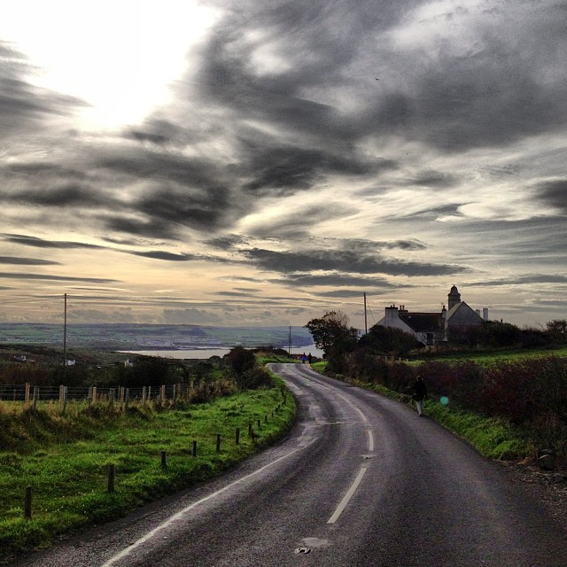 The essence of the open road in Ireland, the contour of light and land.