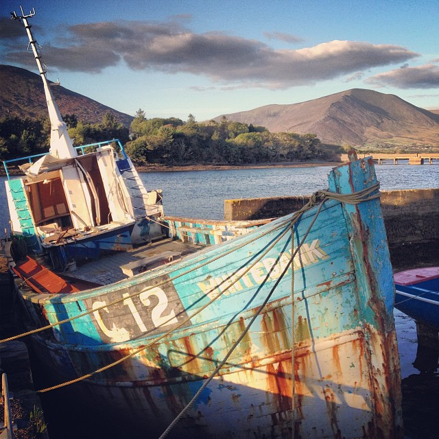 Cahersiveen marina, hidden amidst the twists and turns of the country roads on the Ring of Kerry.