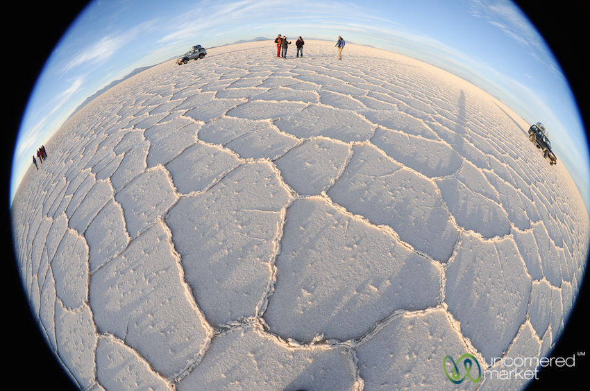 Enjoying the vastness, a Salar de Uyuni eyeball bender.
