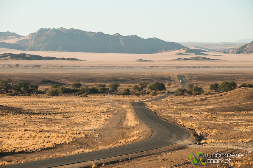 Road trip through Namibia's vast southern deserts.