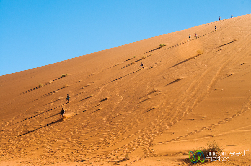 Running down the side of Big Daddy Dune. So much fun.