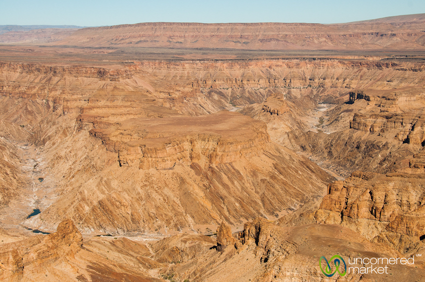 Standing on the rim of the Fish River Canyon. Yes, that's pretty deep and grand.
