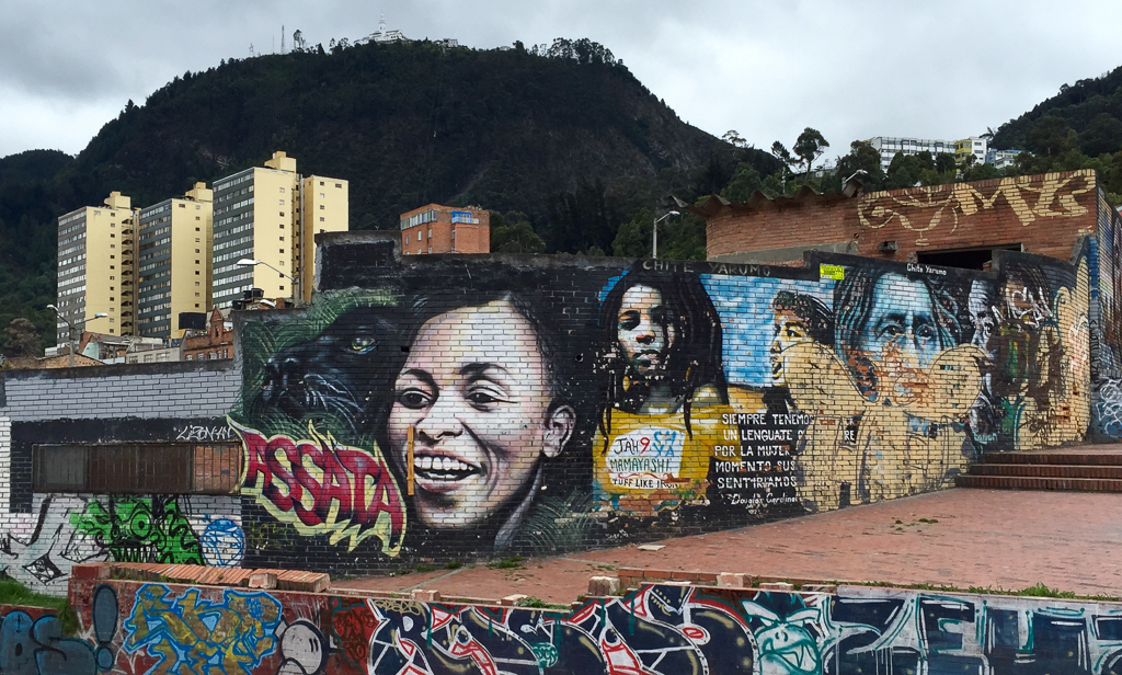 Street art in the Candelaria neighborhood of Bogotá.