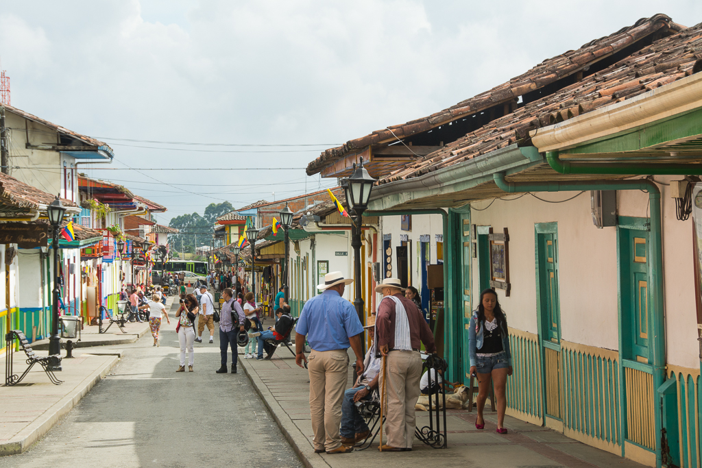 Salento, a small town in the heart of Colombian coffee country.