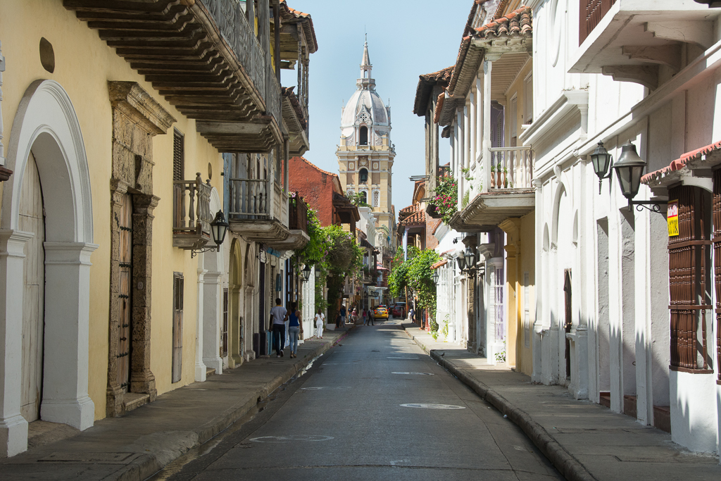 Cartagena streets, colonial architecture and flair.