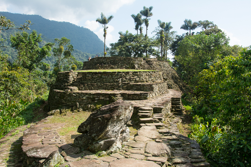 Going up to the upper – and more sacred – terraces of the Lost City.