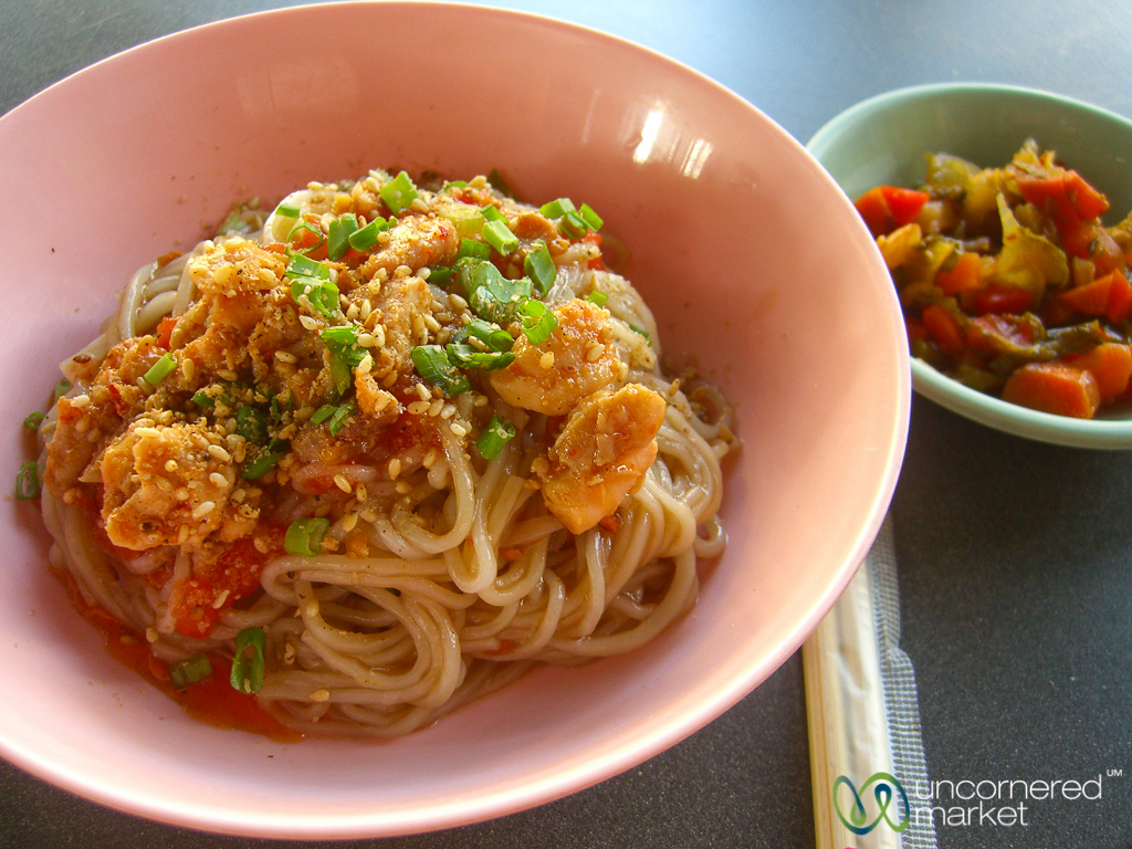 Burmese food roundup top 7 dishes g adventures spicy noodles on the streets of rangoon or yangon forumfinder Choice Image