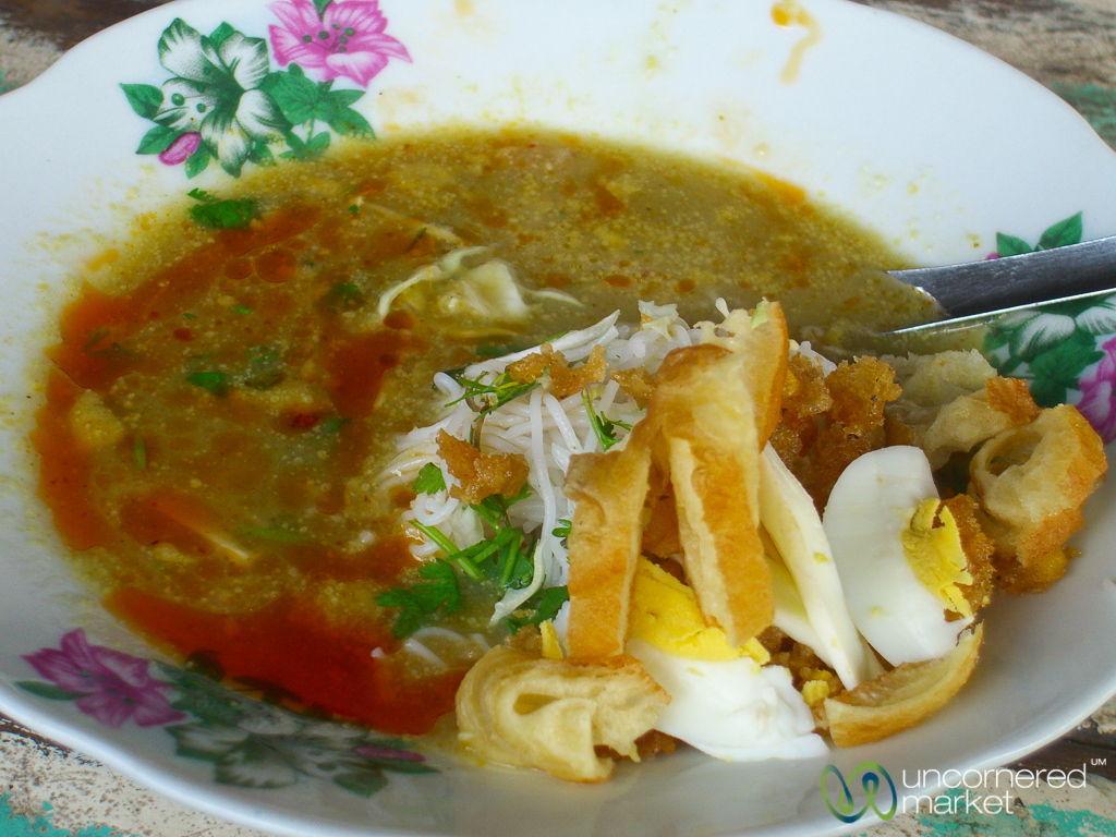 Burmese food roundup top 7 dishes g adventures a hearty bowl of mohinga for breakfast forumfinder Image collections