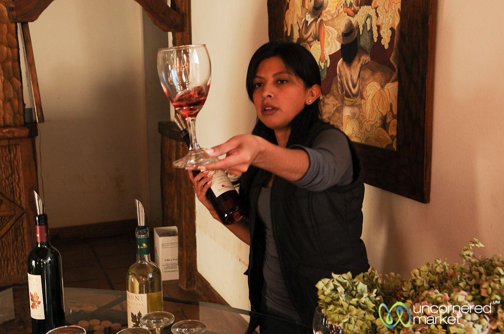 Wine tasting at Bodega Nanni in Cafayate.