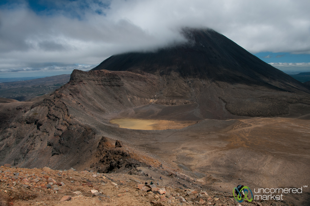 Looking down over Mordor from the rim of the Red Crater.