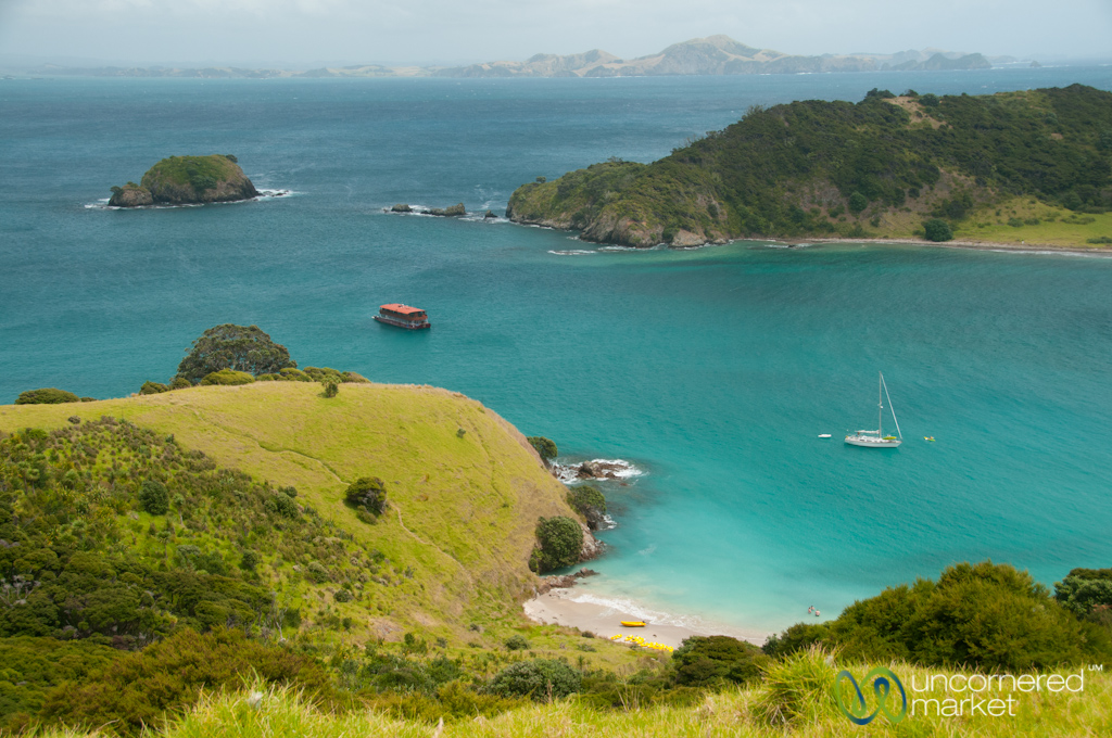 Bay of Islands, view from above.