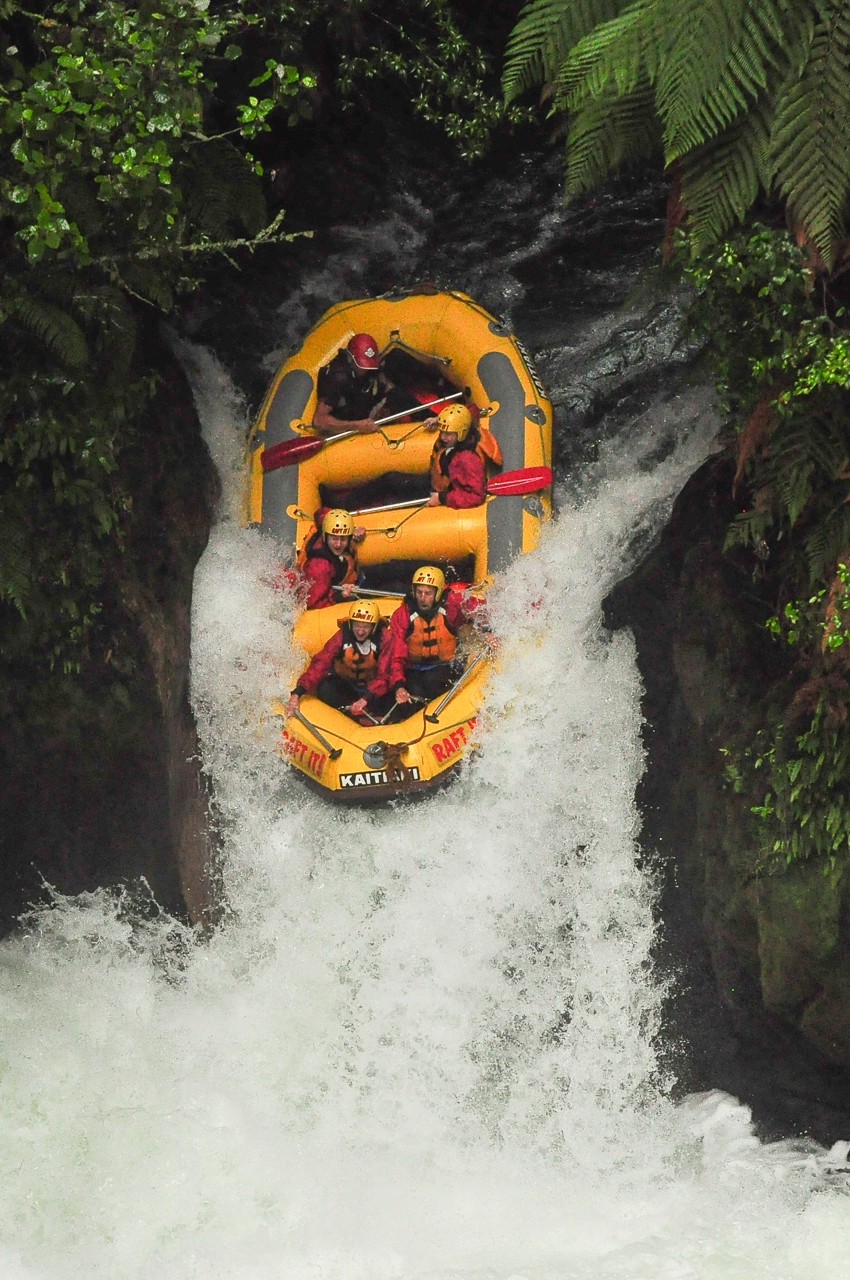 This is what a going down a 23-foot-high or 7-metre-high waterfall looks like.