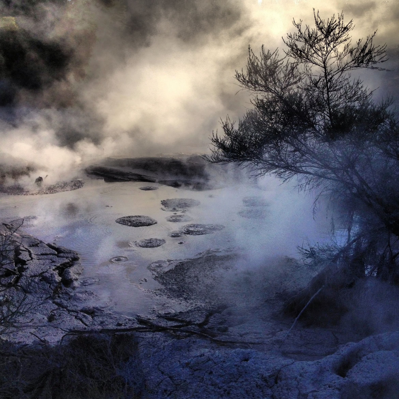 Mud pools bubbling with geothermal activity at Waiotapu.