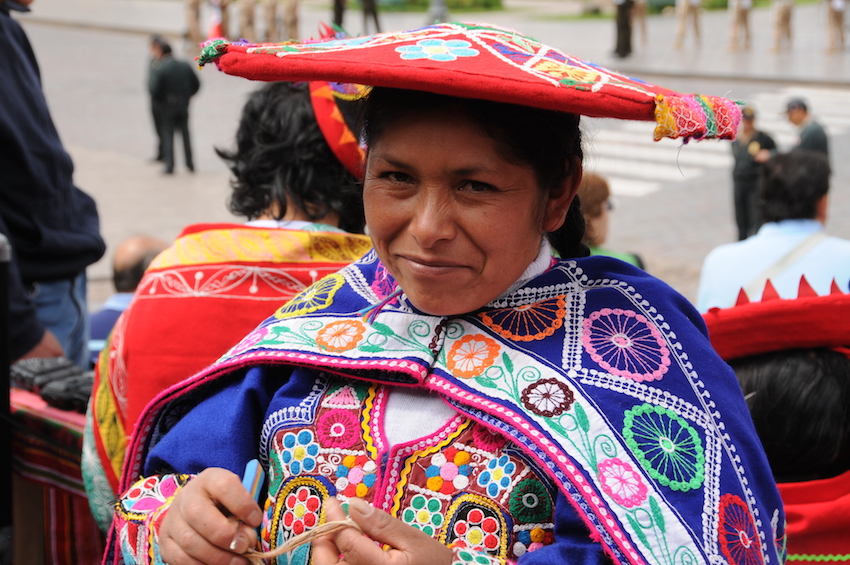 In Cusco, Peru artisans set up on the main square, Plaza de Armas, the first Sunday of each month to sell their crafts directly to travellers.