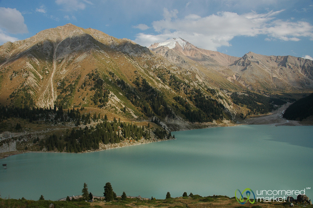 Big Almaty Lake in the Tian Shan Mountains. No Photoshop work required.