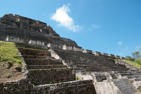Xunantunich's largest pyramid, El Castillo, rises 130 feet above the main plaza.