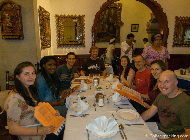 Group dinner at Cafe de Tacuba