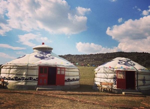 Yin Shan Yan Hua Gers Camp in Inner Mongolia.