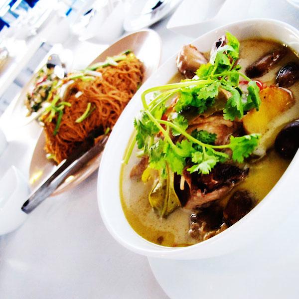 soup and noodle dish