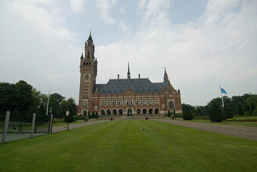 The Hague is also the headquarters of the International Court of Justice and the International Criminal Court, which are located in the Peace Palace, shown here.