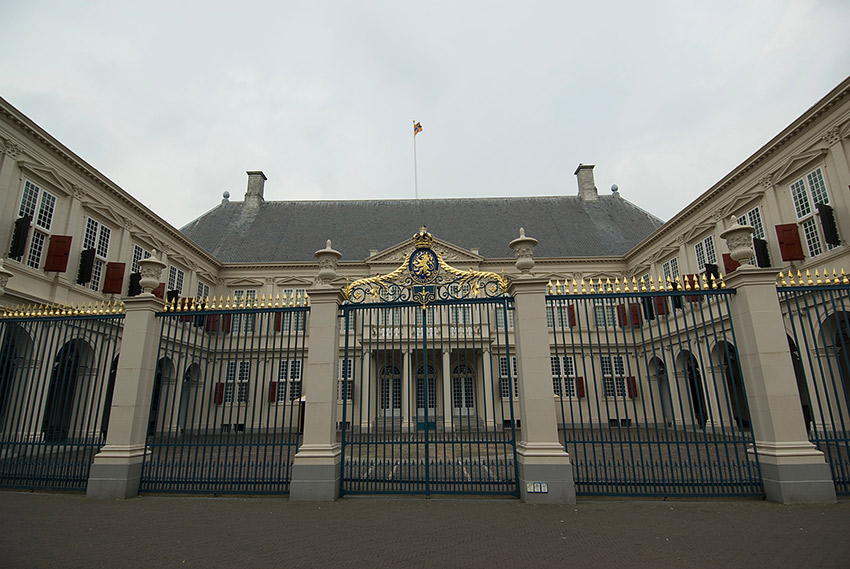 The Netherlands is a monarchy. The current king, Willem-Alexander, took the throne in 2013 when his mother, Queen Beatrix, abdicated. This is a photo of the Noordeinde Palace, one of three official royal residences in the Netherlands.