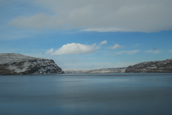 The Columbia River and the Gorge in the winter.