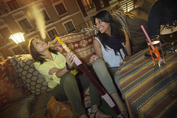 Enjoying shisha in Istanbul.
