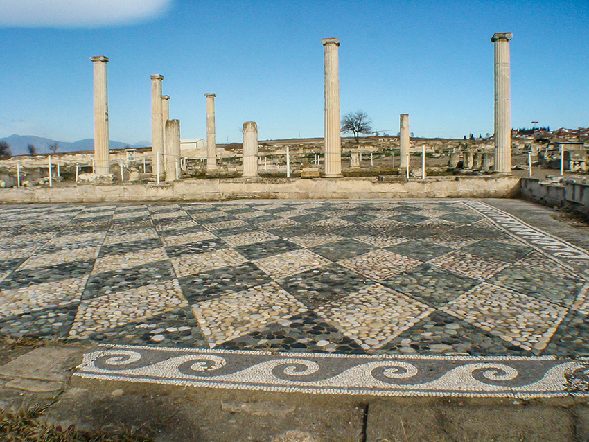 Walking in the footsteps of Alexander the Great's youth on the boulevards, palace steps and ancient agora at Pella.