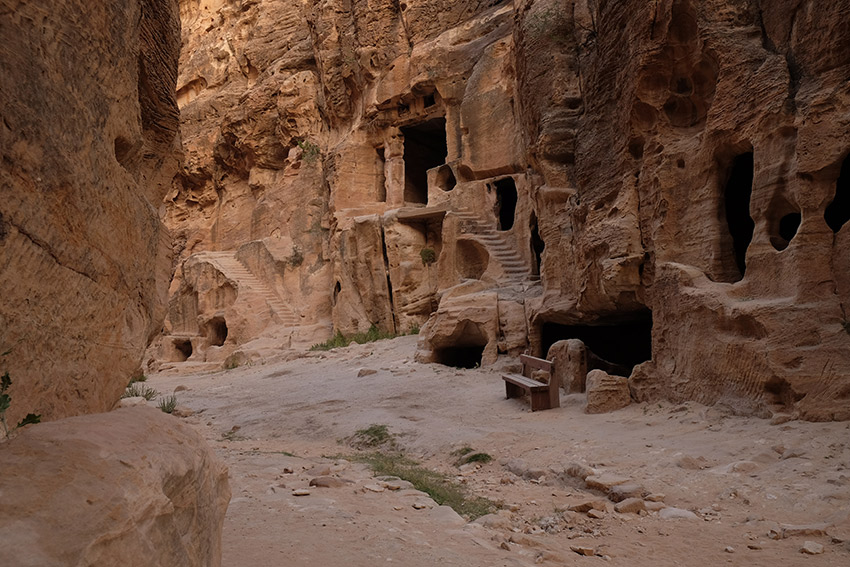 Walking through Little Petra.