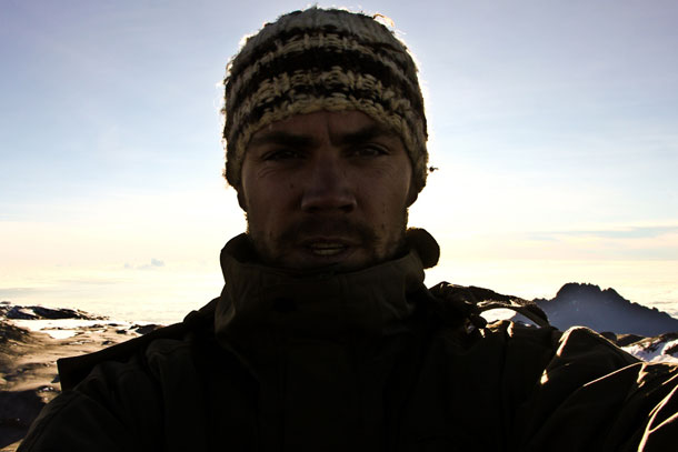 """Preparing for the last 100 metres up Kilimanjaro, photo by Greg"""""""