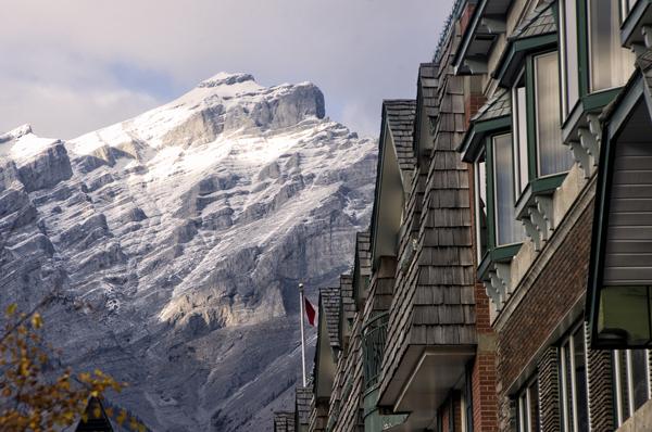 Amazing views from Banff's main street. Photo courtesy Evan Leeson.