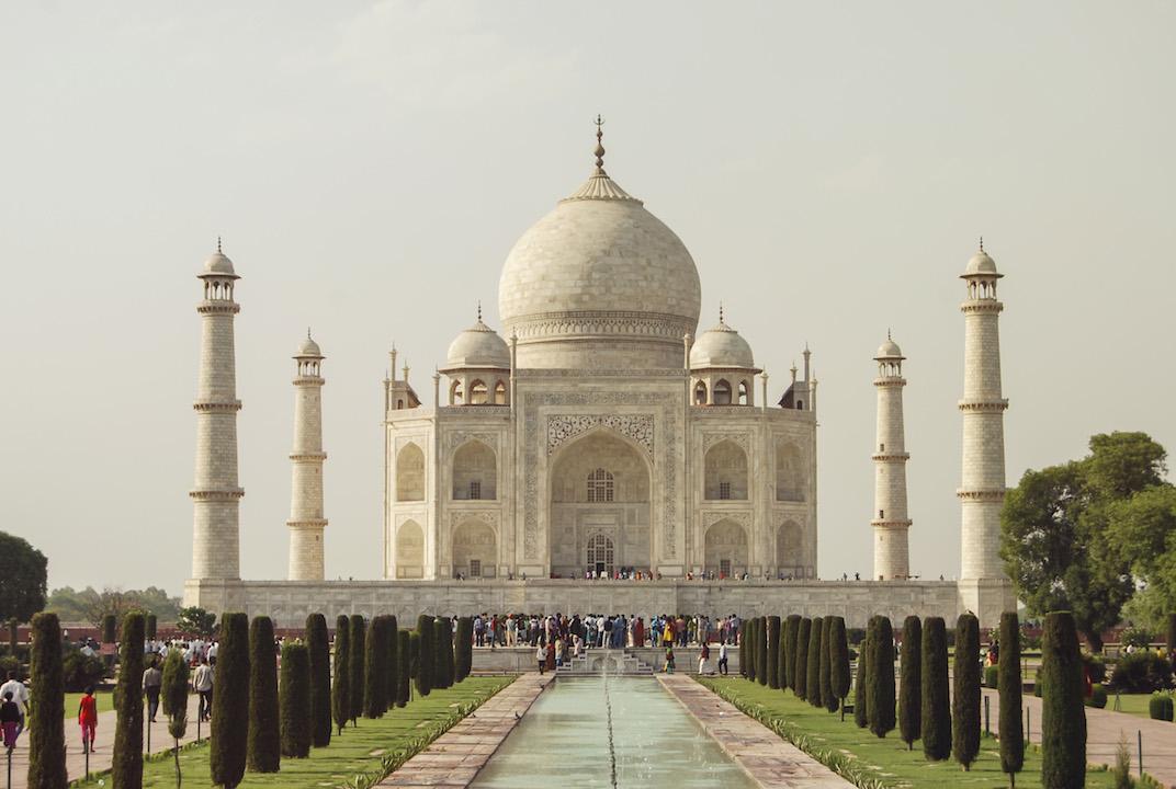 The Taj Mahal in Agra.