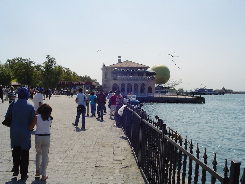 Summer days on the Kadikoy waterfront.
