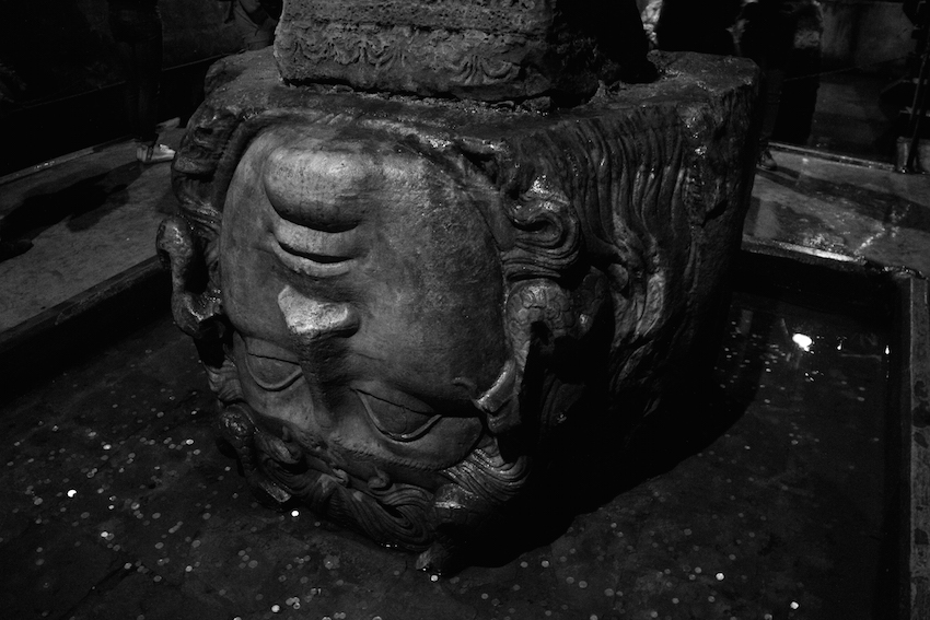 Medusa at the Basilica Cistern.