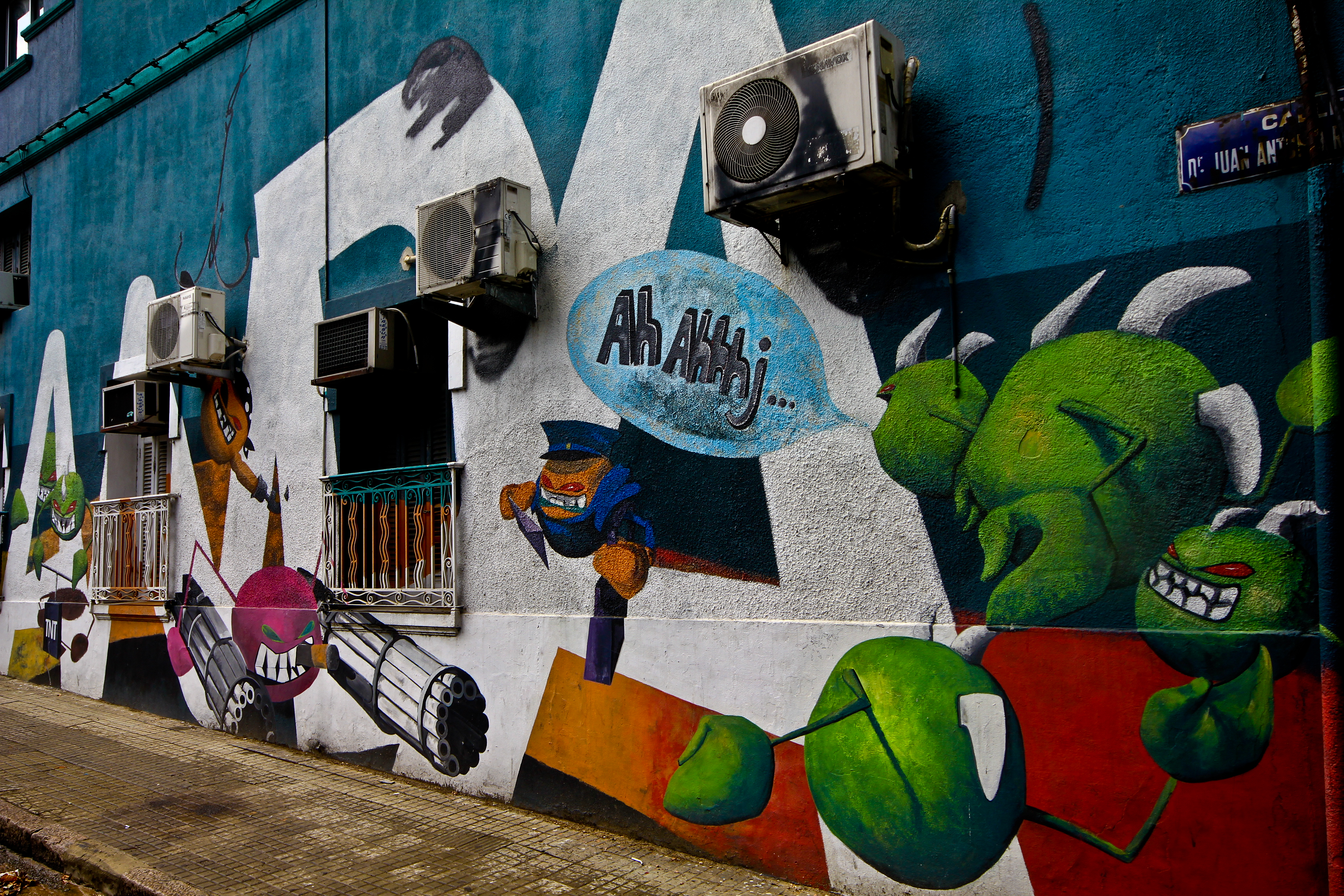 Let Montevideo's amazing graffiti guide you through the streets.