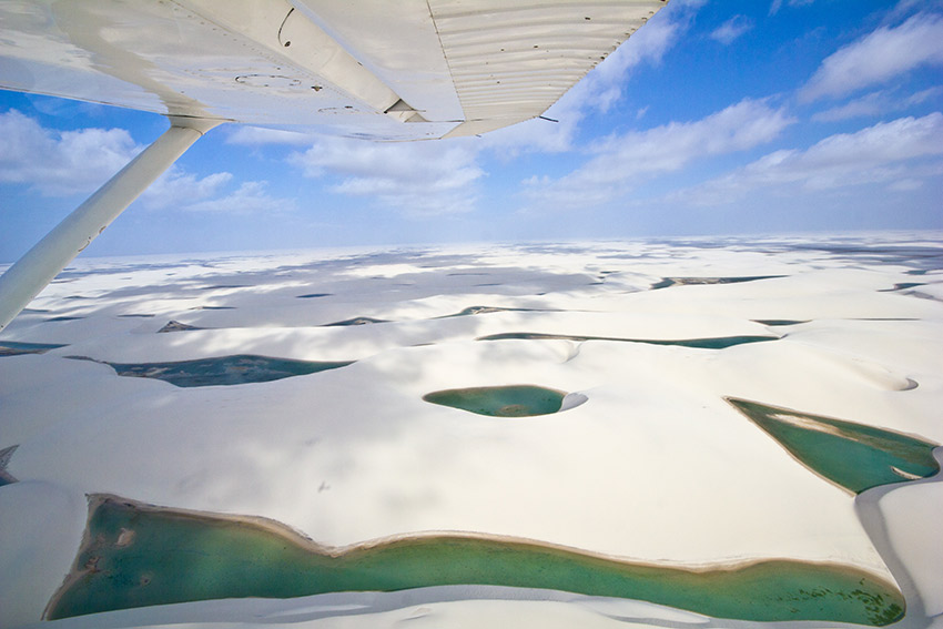 Taking a scenic flight is highly recommended.