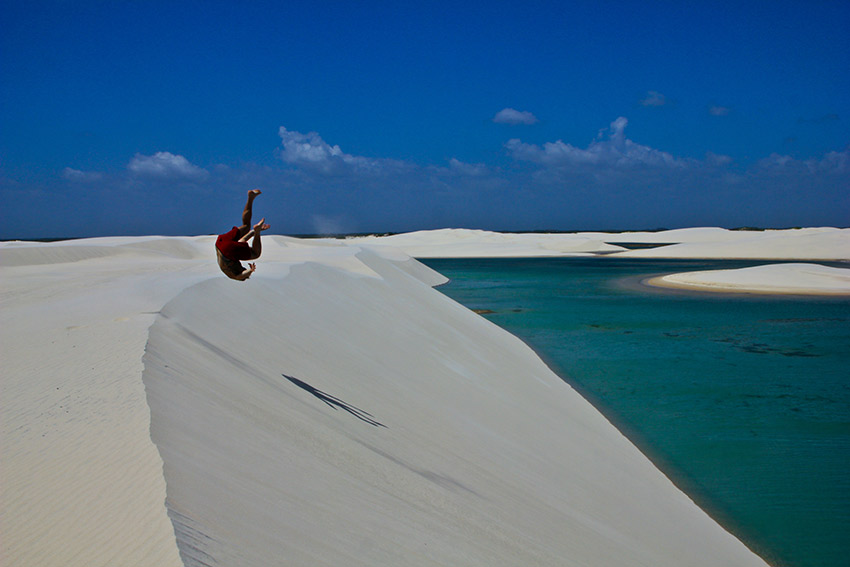 Playing around on the dunes.