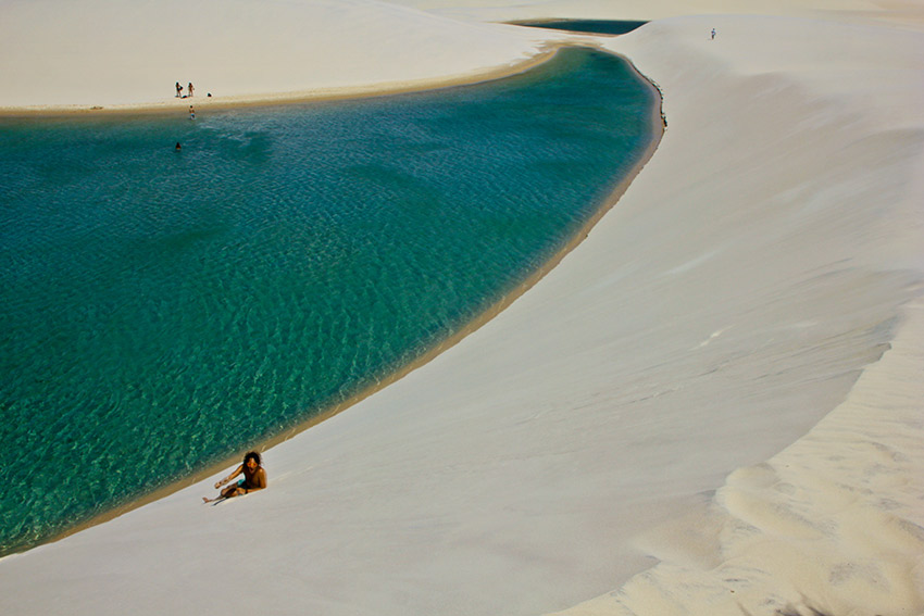 Fresh water pooled in sand dunes is a sight to behold.