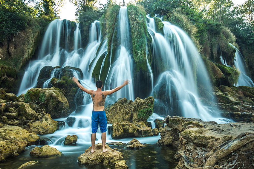 A visit to the Kravice waterfall is the perfect way to cool off during the summer months.