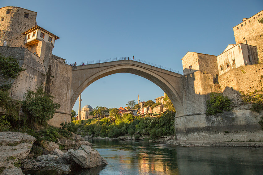 The Stari Most is a 16th century Ottoman bridge.