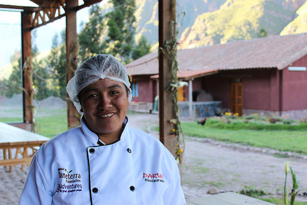 Timotea is just one face you'll see when visiting the Parwa restaurant in the Sacred Valley in Peru.