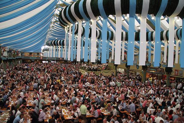 Beer tent at Oktoberfest in Munich Germany. Photo by Sean O. & Oktoberfest Stein and Schwein - G Adventures