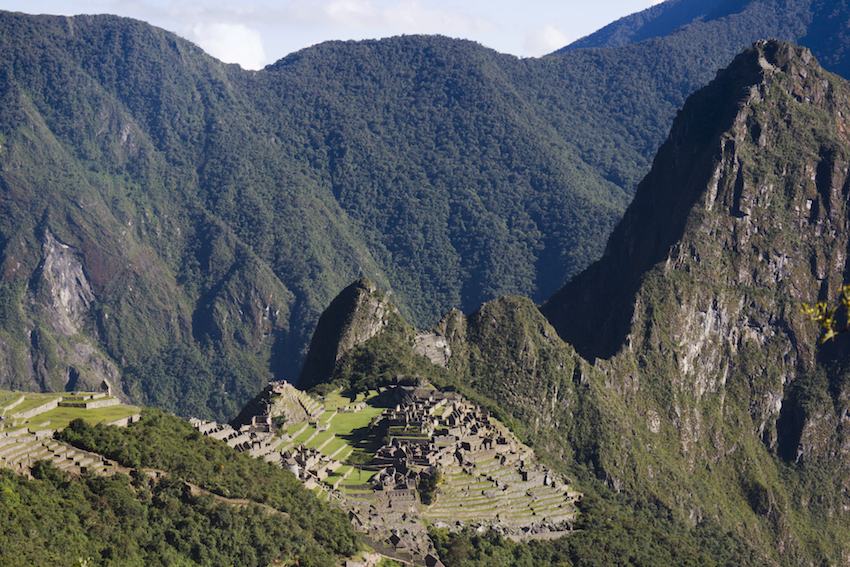 Machu Picchu seen from the Sun Gate.