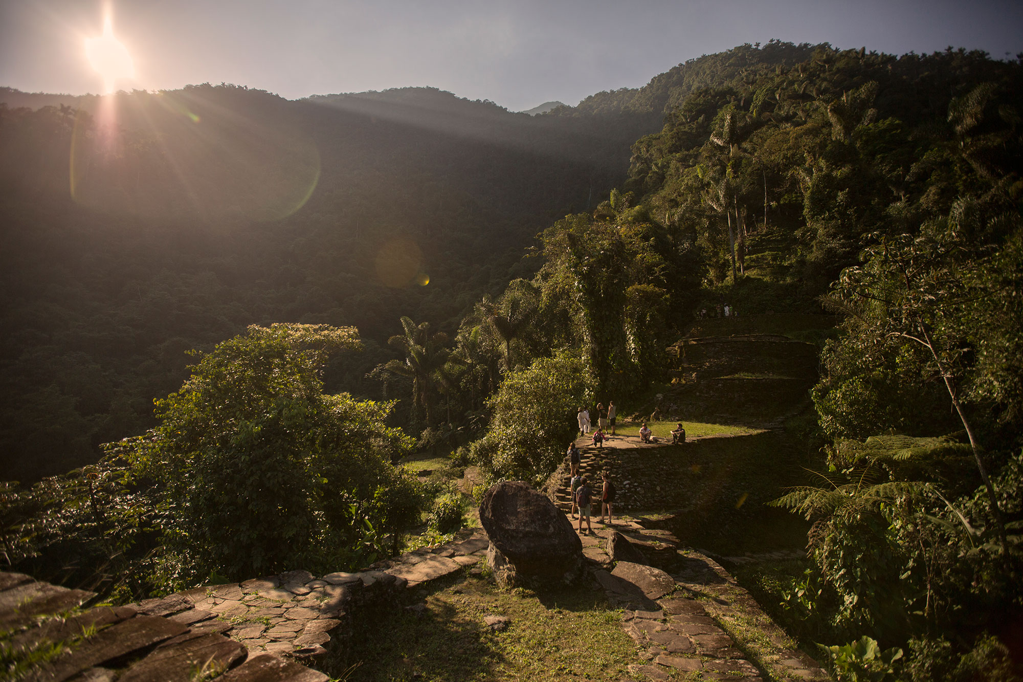 The Lost City in Colombia's jungle.